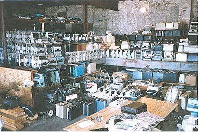 Typewriters in the warehouse