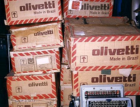 Boxes of Olivetti!